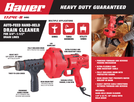 New Items - Bauer Drain Cleaner