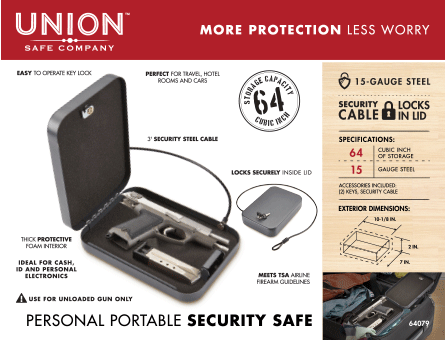 New Items - Union Portable Safe