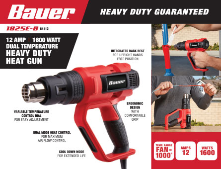 New Items - 1600 Watt Heavy Duty Dual Temperature Heat Gun 1000°