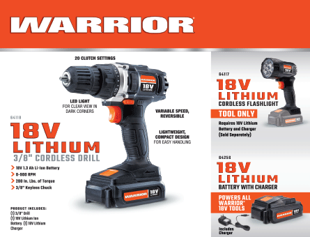 New Items - Warrior cordless