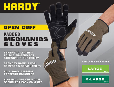 New Items - Open Cuff Padded Mechanic's Gloves