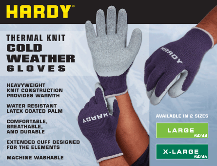 New Items - Cold weather gloves