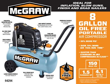 New Items - 8 gallon oil free protable air compressor