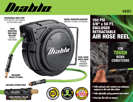 New Items - Diablo Green Hose Reel