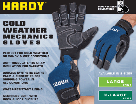 New Items - Hardy Cold Weather Gloves