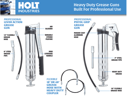 New Items - Holt Industries Grease Guns