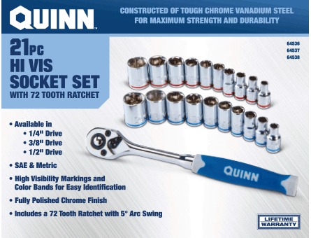 New Items - 21 Pc. Socket and Ratchet Set