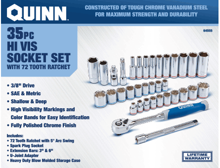 New Items - 35 Pc. Socket Set