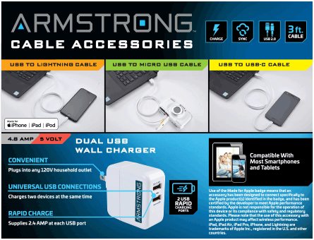 New Items - Armstrong Cable Accessories