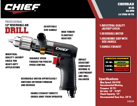 New Items - Chief Reversible Air Drill
