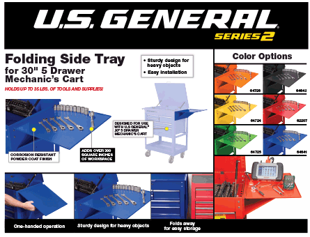 New Items - US General Folding Side Tray