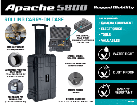 New Items - Apache Carry-on Case