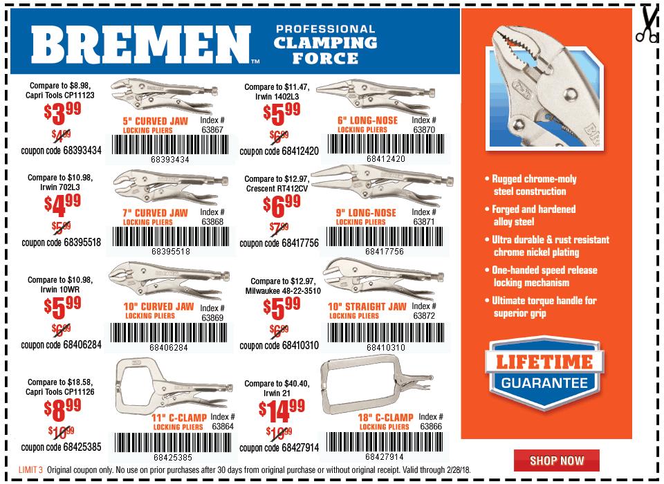 New Items - Locking Pliers