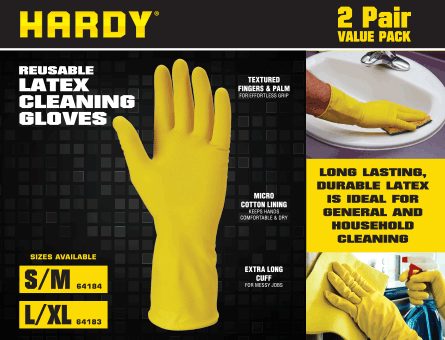 New Items - Latex Cleaning Gloves