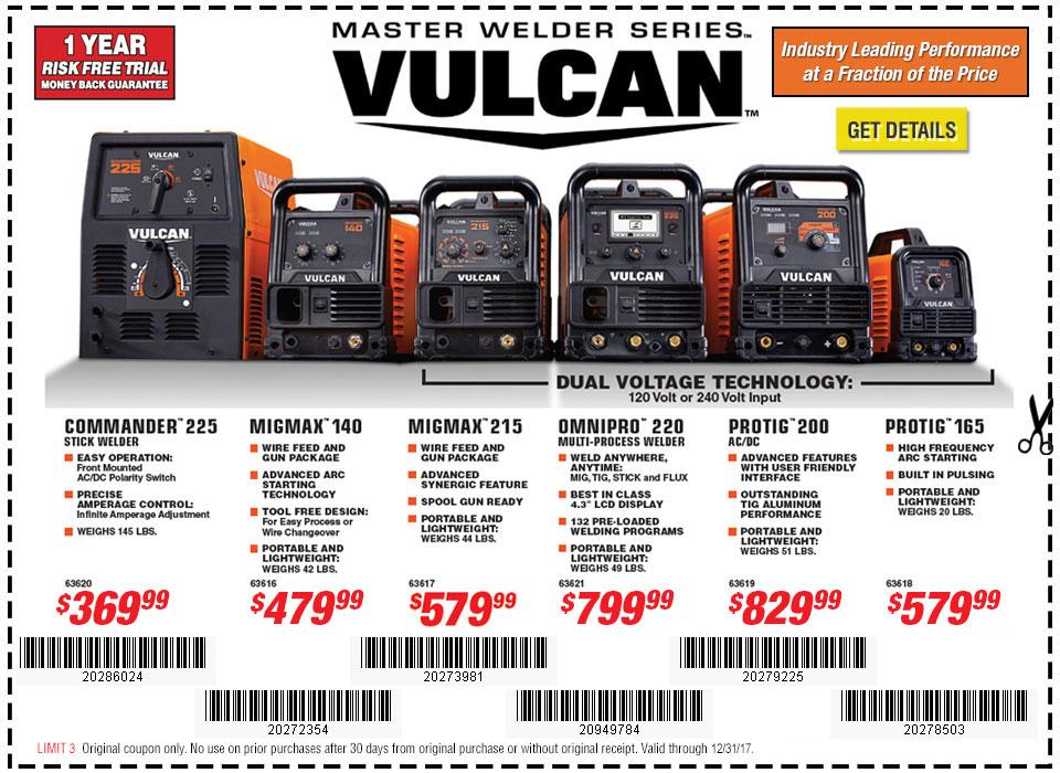 New Items - Vulcan welders
