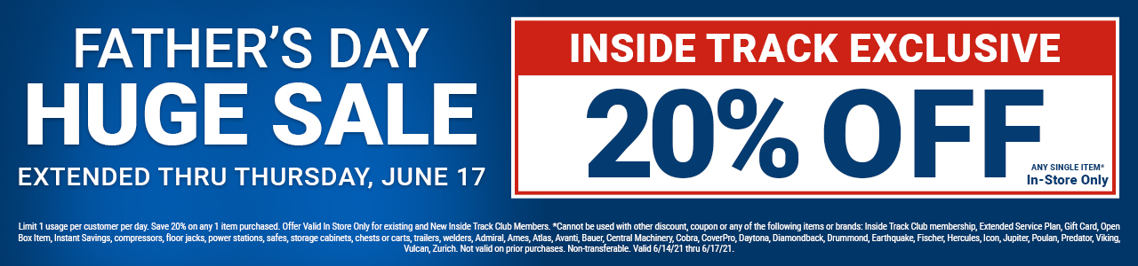 Fathers Day 20% Off Coupon For Inside Track Club Members