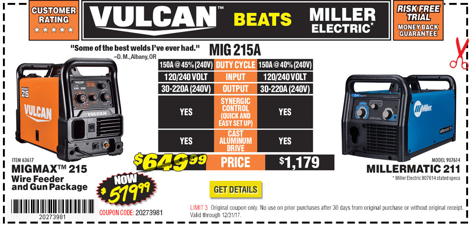 Harbor freight tools quality tools at discount prices since 1977 vulcan beats lincoln sciox Gallery