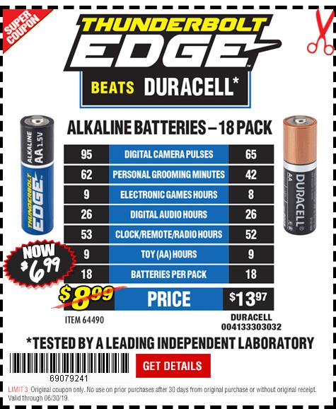 Thunderbolt Edge Alkaline Batteries
