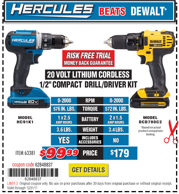 20V Lithium Cordless 1/2 in. Compact Drill/Driver Kit