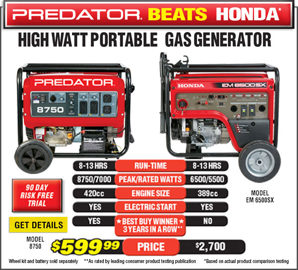 Predator Generator Beats Snap-on