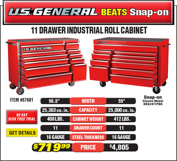 US General Cabinet beats Snap-on