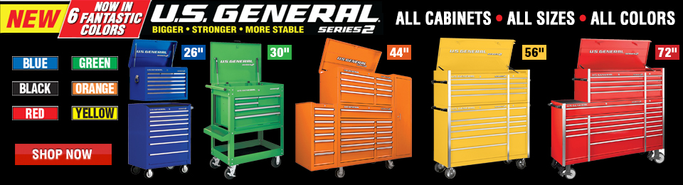 US General Tool Cabinets in All Colors