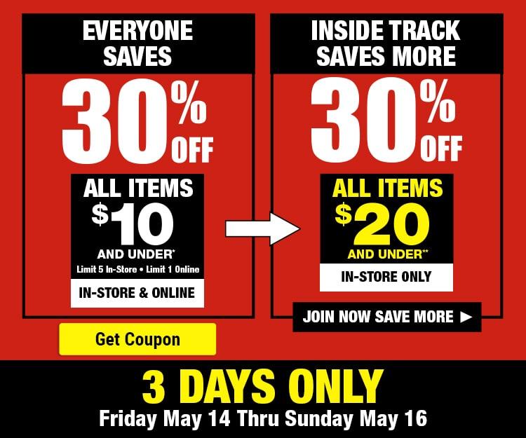 30% Off Weekend Promo