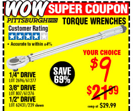 Drive Click Type Torque Wrench
