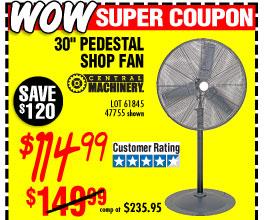 30 in. Pedestal Shop Fan