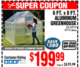 6 ft. x 8 ft. Greenhouse