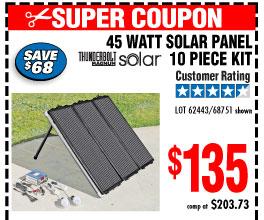 45 Watt Solar Panel Kit 10 Pc Kit