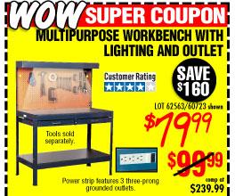 Multipurpose Workbench with Light
