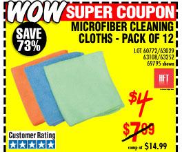 Microfiber Cleaning Cloths 12 Pk.