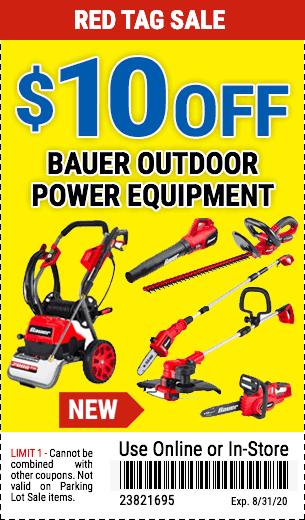 $10 Off Bauer Power Equipment