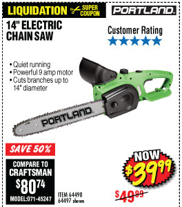 39 Amp 14 in. Electric Chainsaw