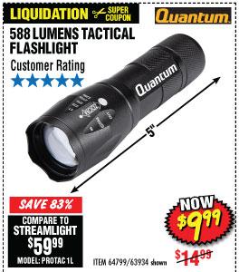 1588 Lumen Tactical Flashlight