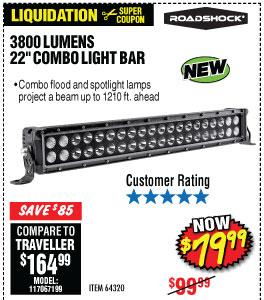 3800 Lumens 22 in. Combo Light Bar