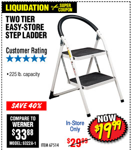 4Two Tier Easy-Store Step Ladder