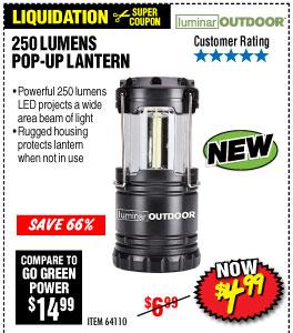 250 Lumen Compact Pop-Up Lantern
