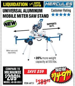Hercules® Aluminum Miter Saw Stand