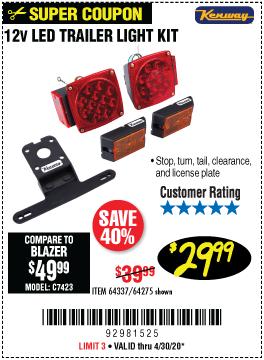 12 Volt LED Trailer Light Kit