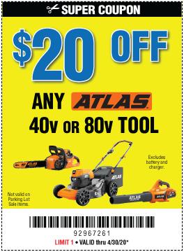 $20 Off Any Atlas Tool