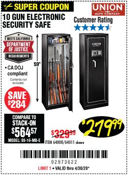 10 Gun Electronic Security Safe