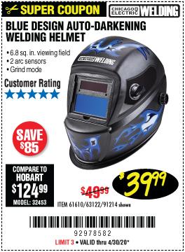 1Blue Design Auto Darkening Welding Helmet