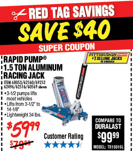 harbor freight sawmill coupon. shop harbor freight. 1.5 ton aluminum racing floor jack with rapid pump freight sawmill coupon