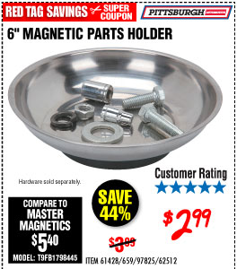 6 in. Magnetic Parts Holder