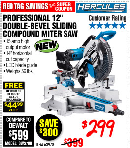 Professional 12 in. Double-Bevel Sliding Compound Miter Saw