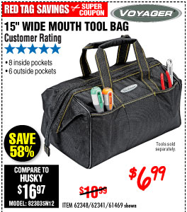 15 in. Wide Mouth Tool Bag