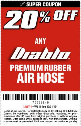 20% off Diablo Premium Rubber Air Hose Fam