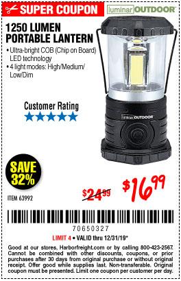 1250 Lumen Portable Lantern